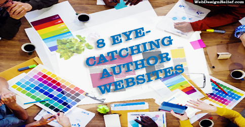 8 Eye-Catching Author Websites | Web Design Relief